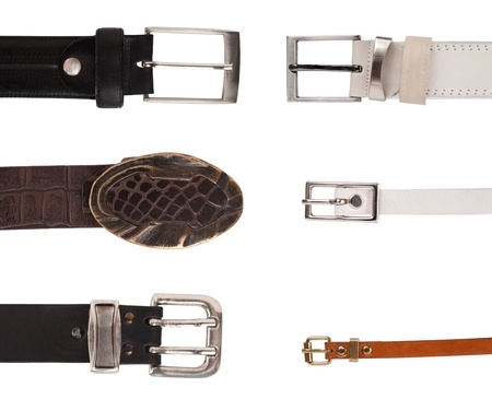 buckles: Six different buckles Stock Photo