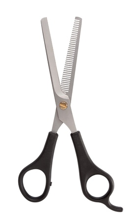 haircutting: Professional haircutting scissors Stock Photo