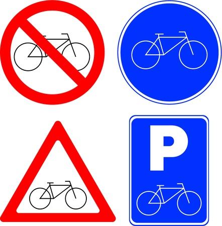 restrict: Bicycle symbols