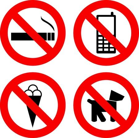 No se permiten signos