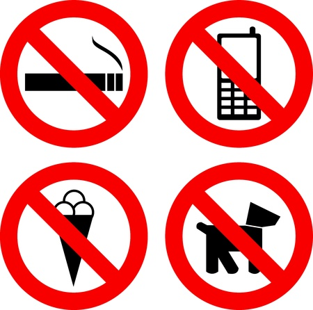 Not allowed signs Stock Vector - 14573989