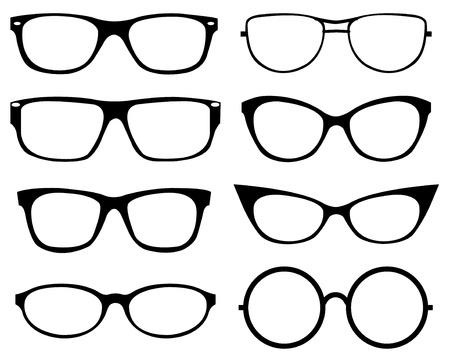 Set van brillen Stock Illustratie