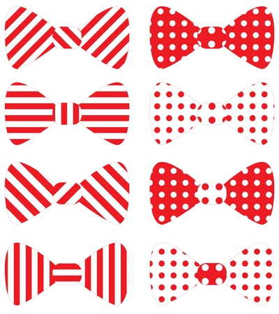 bow tie: Set of red bow ties Illustration