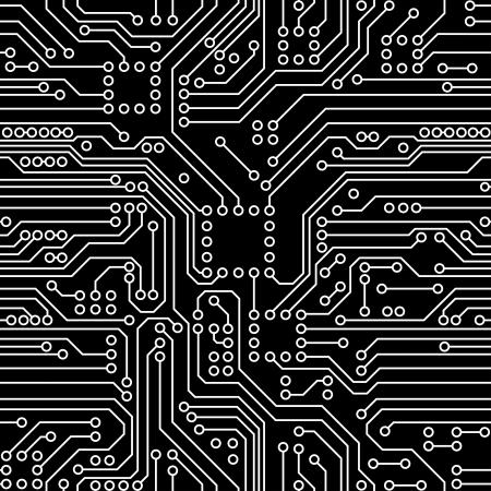 Tarjeta de circuitos Ilustración de vector