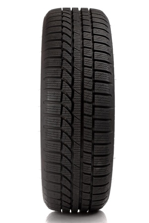 Tyre over white background Standard-Bild