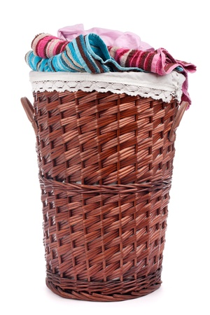 Wicker hamper photo