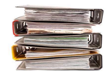 financial paperwork: Office folders