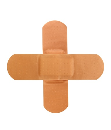 band aid: Medical patch on a pure white background Stock Photo