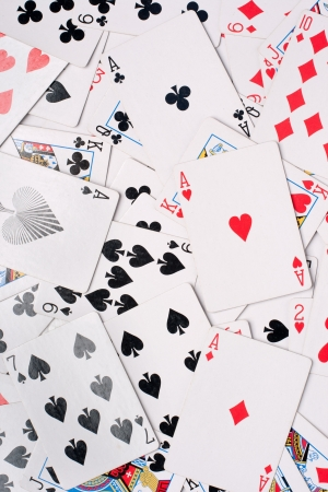 Background made of playing cards  Studio shot  Stock Photo - 15841500