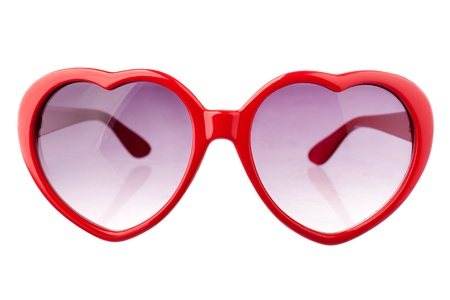 Heart shape sun glasses photo