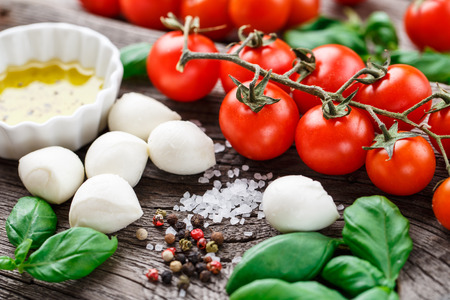 caprese: Caprese salad ingredients Stock Photo