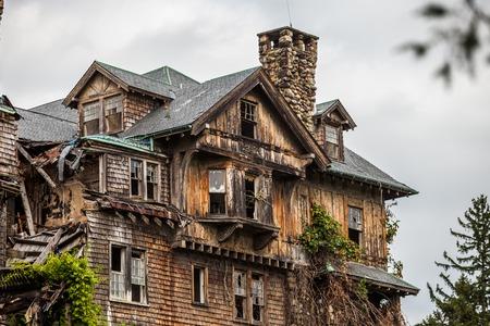 damaged roof: Creepy house