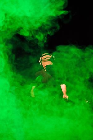 DJ Smoke green playing show