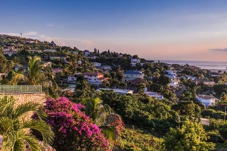 Kingston city in Jamaica sunset