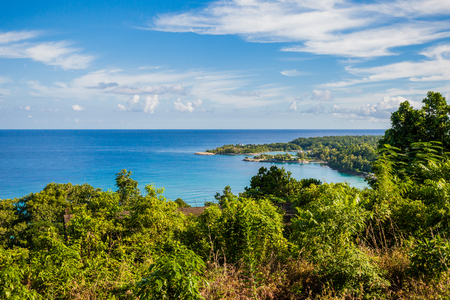 Jamaica tropical waters green paradise Stock Photo