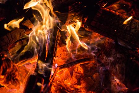 Burning Fire wood coal hot Stock Photo - 87639704