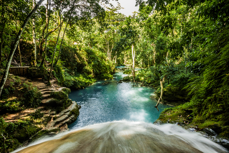 Jamaica tropisch water groen paradijs Stockfoto