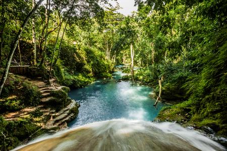Jamajka tropikalny wodny zielony raj