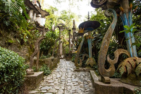 Xilitla ruins in Mexico 스톡 콘텐츠