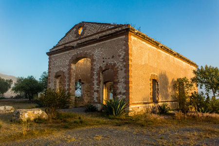 Old miners town in Mexico Mineral de pozos Stock Photo