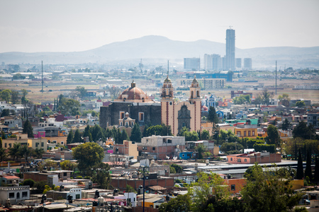 View of Acatepec city in Mexico at day