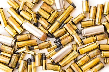 Bullet shells on a white background full metal jacket