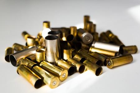 Bullet shells on a white background full metal jacket