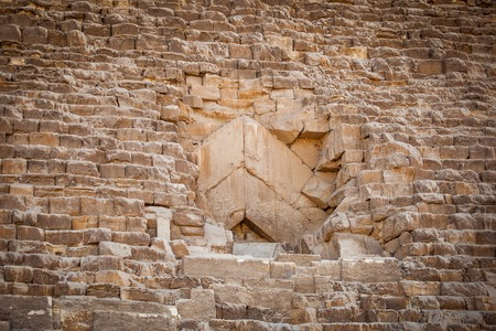 Blocked entrance to a Pyramid in Cairo Egypt at day Stock Photo