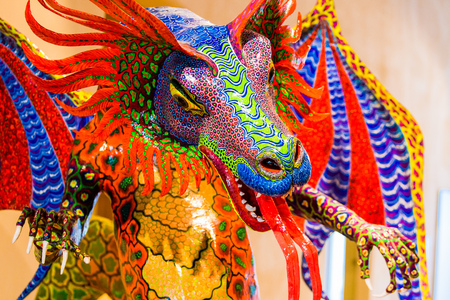 Traditional Mexican art alebrije folklore big sculpture