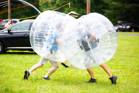 Bubble sport fun activity for kids and adults