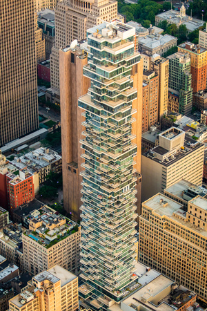 New York buildings in the center of the city from above Archivio Fotografico