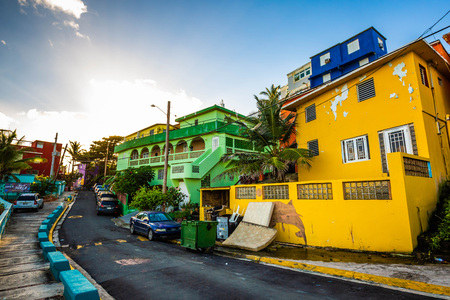 La Perla district in Old San Juan at sunrise