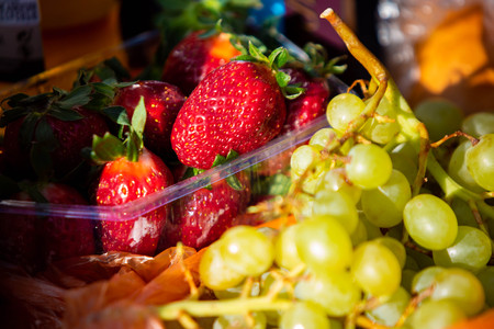 Fruits mix close up healthy diet at day