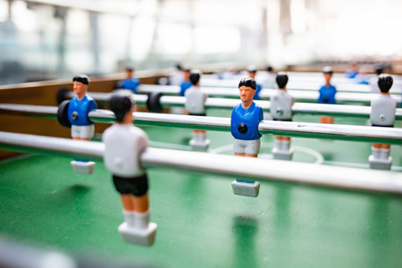 Table football competition concept with team play