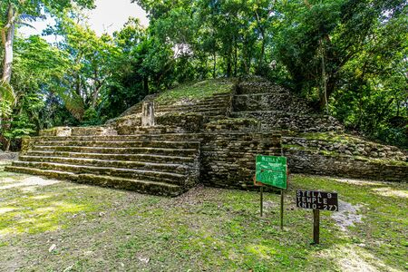 Lamanai archaeological reserve mayan ruins Stella Belize Stock Photo