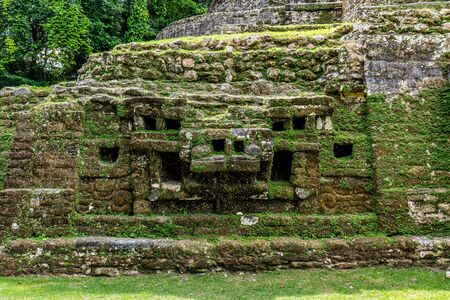 Lamanai archaeological reserve mayan ruins Jaguar Temple Belize 版權商用圖片
