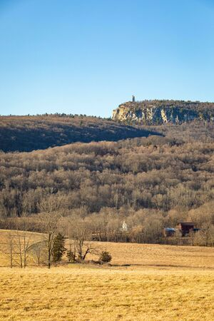Skytop Tower and Eagle Cliff, Mohonk Preserve, Upstate New York, USA Stock Photo