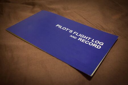 Pilot flight logbook for training becoming pilot isolated