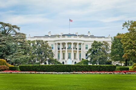 The White House, Washington DC in sunny summer day nobody