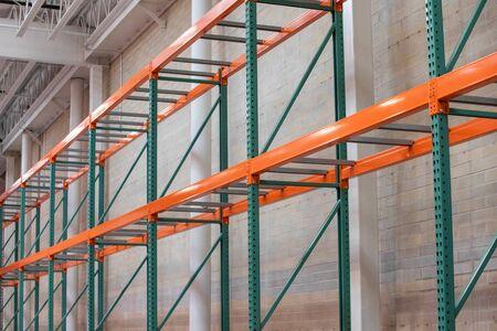 Empty shelves with no food as people empty supplies in panic of coronavirus Фото со стока