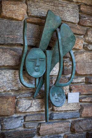 Pocantico Hills, NY / USA: 8-30-2014: Kykuit Rockefeller Estate art statues exterior at Hudson Valley New York