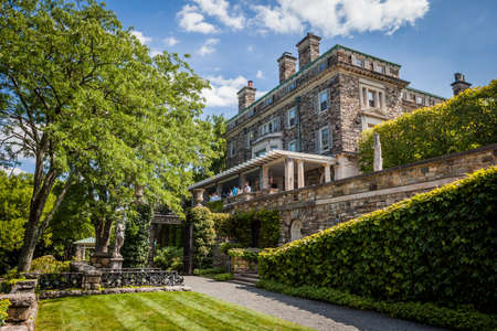 Pocantico Hills, NY / USA: 8-30-2014: Kykuit Rockefeller Estate historical museum at Hudson Valley New York