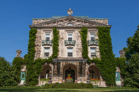 Pocantico Hills, NY / USA: 8-30-2014: Kykuit Rockefeller Estate historical museum at Hudson Valley New York