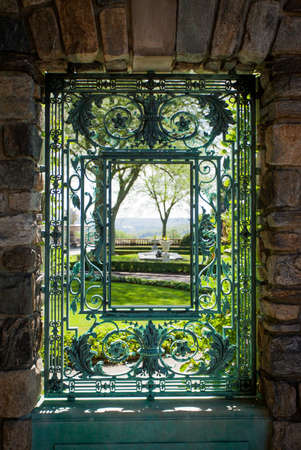 Pocantico Hills, NY / USA: 8-30-2014: Kykuit Rockefeller Estate interior design at Hudson Valley New York