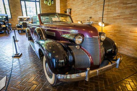 Pocantico Hills, NY / USA: 8-30-2014: Kykuit Rockefeller Estate cars garage at Hudson Valley New York 에디토리얼
