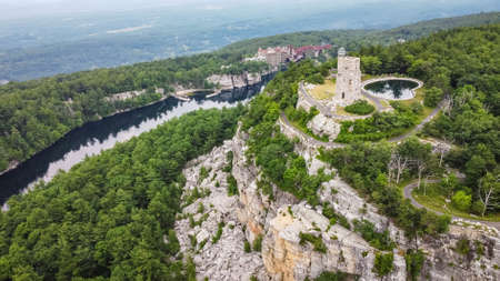 Mohonk Mountain House with Sky Top Tower Aerial view
