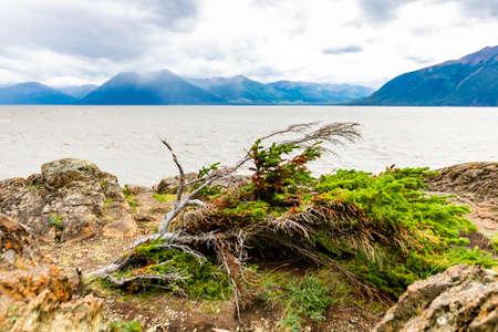 Scenic view of Beluga point sea shore in Alaska