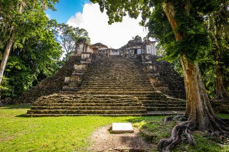 Ancient pyramids at Dzibanche Maya archaeological site, Quintana Roo, Yucatan Peninsula, Mexico. Banco de Imagens - 161672247