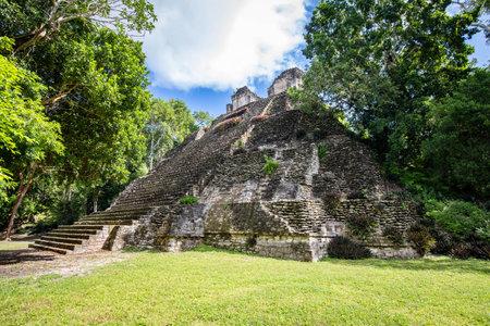 Ancient pyramids at Dzibanche Maya archaeological site, Quintana Roo, Yucatan Peninsula, Mexico. Banco de Imagens - 161672248