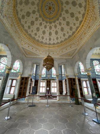 ISTANBUL, Turkey - 12-20-2020: Throne Room inside Topkapi Palace Banco de Imagens - 161657000